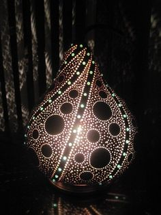 Gourd light by Tami Redding
