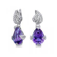 Sterling Silver Amethyst Earrings by Drukker Designs, USA