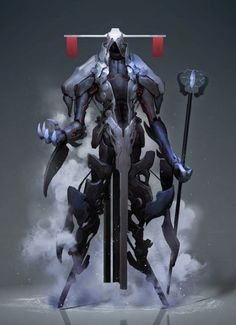 Robôs, monstros e guerreiros cibernéticos nas fantásticas ilustrações de ficção científica de Reza Ilyasa
