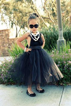 Audrey Hepburn inspired tutu Halloween costume