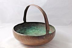 Hammered Copper Bowl Vetcraft Shops Veterans Original Arts & Crafts Movement