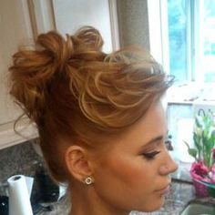 Stylish Bun Hairstyle for Curly Hair