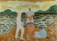 Milton Avery Figures on a Beach (on verso: Untitled (Landscape)), 1948 Watercolor and pencil on paper x 30 inches Signed and dated lower right: Milton / Avery / 1948 Mark Rothko, Henri Matisse, Beach Artwork, Canadian Art, Watercolor Paintings, Watercolour, Art Paintings, Figure Painting, Abstract Expressionism