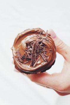 Gluten free chocolate muffins + nutella.
