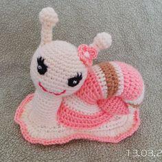 Crochet Toy Snail Cute Snail Amigurumi Snail. от PrincesssJasmin, ₪110.00