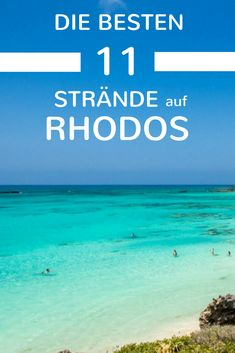 The 11 most beautiful beaches in Rhodes - summer, sun, sand - Urlaub in Griechenland - Europe Destinations, Holiday Destinations, Holiday Checklist, Beach Vacation Outfits, Vacations To Go, Most Beautiful Beaches, Summer Pictures, Travel Images, Beautiful Pictures