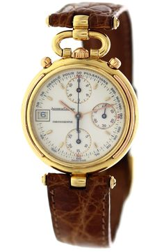 Vintage 18k Rose Gold Jaeger LeCoultre Odysseus Chronograph - sweet little timepiece available >> here