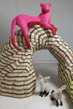 Plunderland by Herb Williams  made entirely of crayons!