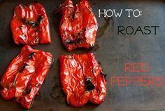 Here's a simple tutorial on how to roast red peppers. Here's a simple tutorial on how to roast red peppers. Vegetarian Recipes, Cooking Recipes, Cooking Games, Vegetable Recipes, Pasta Recipes, Cooking Tips, Sandwiches, Pork Sandwich, Roasted Red Peppers