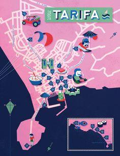 Jon Frickey - Map of Tarifa, Spain