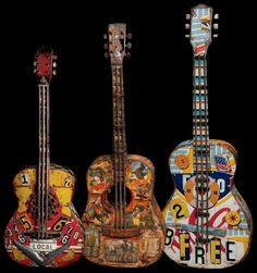 Dave Newman Art Guitars Bass Amps, Guitar Art, Custom Guitars, Old West, Most Favorite, New Art, Rock And Roll, Old Things, Music Instruments