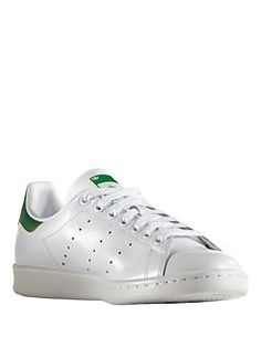 Adidas - Stan Smith Leather Lace-Up Sneakers