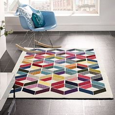 Express vibrancy and tribal-inspired geometry in your space with the evocative Abox Modern Rug from Rug Culture.