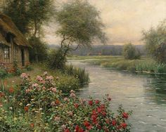 "LOUIS ASTON KNIGHT American (1873-1948) ""A River in Normandy"" ."
