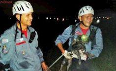 Bombeiros resgatam cão em galeria de esgoto em Caçapava