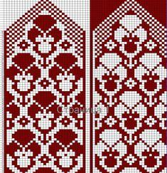 Knitted Mittens Pattern, Knit Mittens, Knitted Gloves, Knitting Socks, Beginner Knitting Patterns, Knitting Charts, Knitting Stitches, Crochet Patterns, Knit Art
