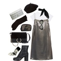 A fashion look from October 2016 featuring Yves Saint Laurent dresses, Antipast socks и Maison Margiela ankle booties. Browse and shop related looks.