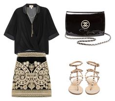 """""""Untitled #2"""" by ms-khidoyatova on Polyvore featuring Armani Collezioni, For Love & Lemons, Valentino, Chanel and Bloomingdale's"""