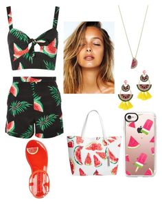 """""""#Watermelon"""" by denisa24 on Polyvore featuring Nobody's Child, Casetify, Vince Camuto, Betsey Johnson and Elizabeth Cole"""