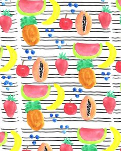 Fruit and Stripes.