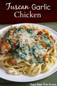 Recipe For  Tuscan Garlic Chicken