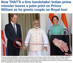 Handshake with Prince William leaves quite an impression.