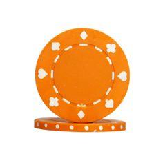 Deze oranje chips zijn zeer goedkope casino en of poker chips en één van de meest verkochte pokerchips van Nederland.