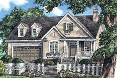 Cottage House Plan with 1228 Square Feet and 3 Bedrooms(s) from Dream Home Source | House Plan Code DHSW41780