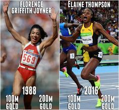 Rio 2016: Jamaica's Elaine Thompson is 1st woman since USA's Florence Griffith Joyner to win 100m & 200m GOLD in the same Olympics. via Sportscenter