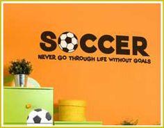 Soccer Bedroom Accessories | Kid's room decor - Nursery, Kid's and Teen's room decorating ideas ...
