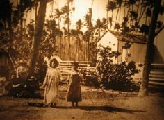 5. This photograph depicts two Hawaiian children doing the hula in 1890.