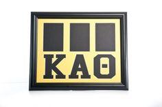 Greek Letters Three Photo Openings Word Art Frame 11 x 14