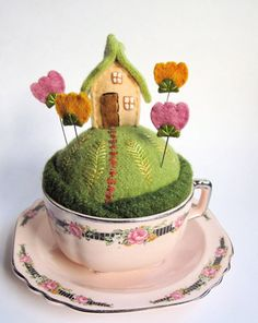 Mimi Kirchner's pincushions are tiny worlds.