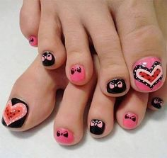 We know you love nail art and spend hours to research for the right design. We make your job easy with these 6 really cool and creative toe nail art designs Toenail Art Designs, Pedicure Nail Designs, Toe Nail Designs, Pedicure Nails, Toenails, Pedicures, Simple Toe Nails, Cute Toe Nails, Toe Nail Art