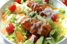 These Buffalo Chicken Strips are loaded with spicy Buffalo flavors. These Buffalo strips are perfect as an appetizer on a sandwich in a wrap or in a salad for dinner lunch or snack. Buffalo Chicken Strips, Honey Garlic Chicken Thighs, Cooking Recipes, Healthy Recipes, Skinny Recipes, Healthy Salads, Healthy Foods, Yummy Recipes, Salad