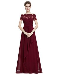 Ever Pretty Lace Short Sleeve Ruched Bust Long Evening Dress 08490 * Read more reviews of the product by visiting the link on the image.