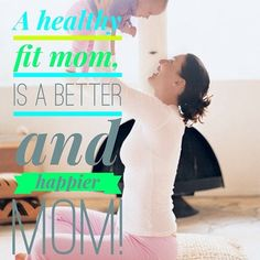 Fitness is one of the awareness issues for this website build, and this image conveys being a mom and fitness can work.
