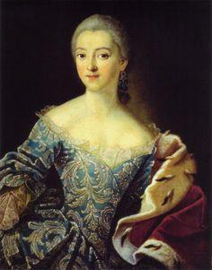Ivan Argunov (Russian artist, 1729-1802)  | Princess Ekaterina Alexandrovna Lobanova-Rostovskaya |1754