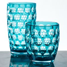 turquoise mario luca giusti acrylic honeycomb lente tumblers drinkware dining kitchen