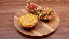 Coconut and Chicken Pie with Pickled Chilli Sauce Master Chef, Curry Pie Recipe, Pomelo Salad, Rough Puff Pastry, Masterchef Recipes, Masterchef Australia, Ginger Juice, Crispy Chicken, Chicken Curry