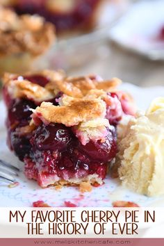 My Favorite Cherry Pie in the History of Ever is part of Desserts - No, really, this is the best cherry pie EVER Nothing hard or secret about it it's a classic! Notes included in the recipe for using sour OR sweet cherries Pie Recipes, Sweet Recipes, Dessert Recipes, Cooking Recipes, Nutella Recipes, Sweet Cherry Recipes, Homemade Cherry Pies, Homemade Pie, Gourmet