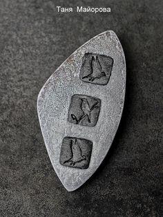 серый,брошь, брошь полимерная глина,таня майорова, polymer clay