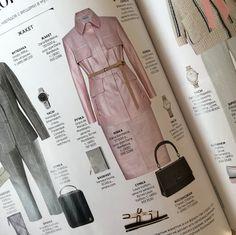 Костюм #DariaBardeeva из натуральной кожи розового-перламутрового оттенка на страницах журнала @InStyle🌸🌿🐰Записаться на примерку: +7(926)050-22-88