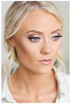 Bridesmaid Makeup Blue Eyes, Wedding Makeup For Blue Eyes, Best Wedding Makeup, Natural Wedding Makeup, Bridal Hair And Makeup, Wedding Hair And Makeup, Bridal Makeup For Blondes, Bride Makeup Blonde, Bridesmaid Makeup Natural
