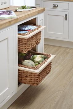 - B&Q the UK's Number 1 Kitchen Retailer offering the Cooke & Lewis Carisbrooke Ivory Framed kitchen Home Decor Kitchen, Diy Kitchen, Kitchen Storage, Kitchen Ideas, Kitchen Design, Country Kitchens, White Kitchens, Dream Kitchens, Vegetable Storage Bin