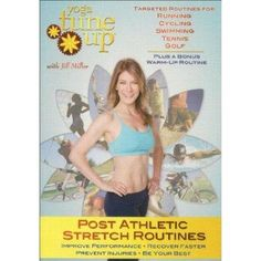 Yoga Tune Up-Post Athletic Stretch Routines with Jill Miller. Includes over 105 minutes of highly specialized post athletic stretch routines for athletes at all levels. Routines created for Running, Cycling, Swimming, Tennis, and Golf, focused on lengthening, strengthening and balancing your shoulders, back, hips, core, and hamstrings; helping to avoid a range of problems, from bursitis to I.T. band syndrome. The DVD also includes a bonus pre-athletic warm-up routine. $22.00