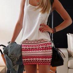 This tribal print skirt