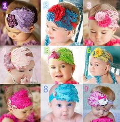 in stock, Baby feather Headbands Baby girl feather Hair Ornaments Shining headwear Kids' accessories ,10pcs/lot, 9 colour