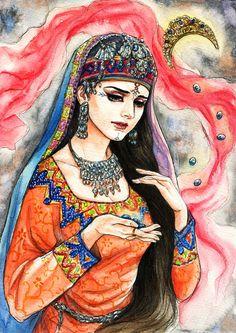 Snowcandy's Gallery — Fanart of Draupadi ,Mahabharat,by Snowcandy. Cute Sketches, Art Drawings Sketches, Indiana, India Painting, Indian Art Paintings, Goddess Art, Krishna Art, Radhe Krishna, Epic Art