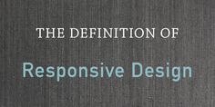 """Learn the definition of  """"responsive design"""" in this quick, animated GIF from @HubSpot."""